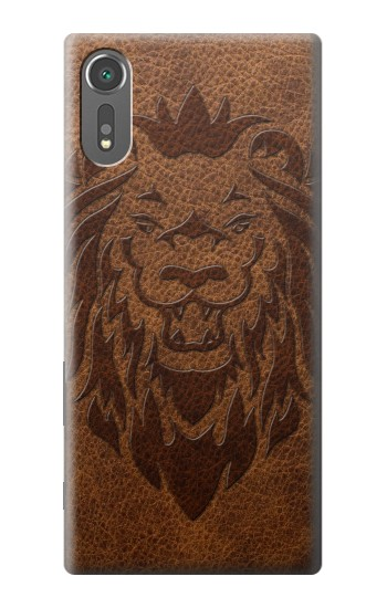 Printed Leo Tattoo Brown Leather Sony Xperia C5 Ultra Case