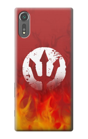 Printed Fire Red Devil Symbol Sony Xperia C5 Ultra Case