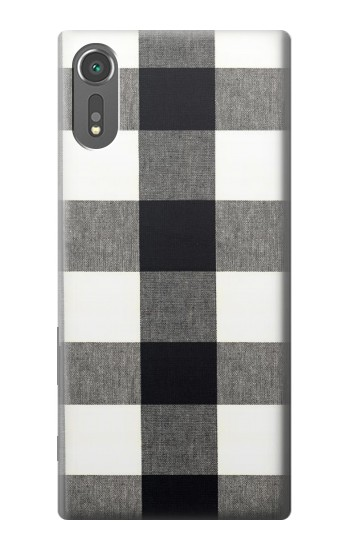 Printed Black and White Buffalo Check Pattern Sony Xperia C5 Ultra Case