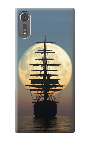 Printed Pirate Ship Moon Night Sony Xperia C5 Ultra Case
