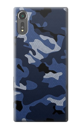 Printed Navy Blue Camouflage Sony Xperia C5 Ultra Case