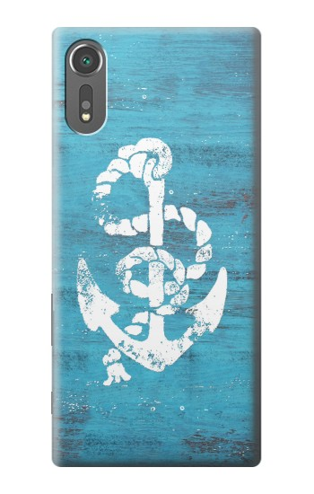 Printed Marine Anchor Blue Wooden Sony Xperia C5 Ultra Case