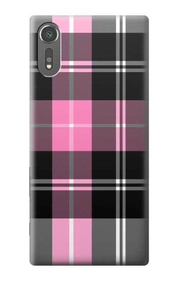 Printed Pink Plaid Pattern Sony Xperia C5 Ultra Case