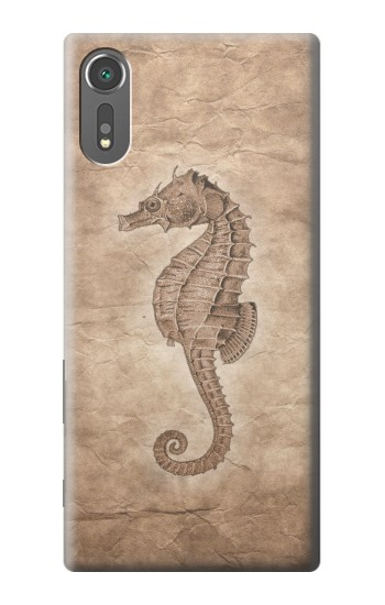 Printed Seahorse Old Paper Sony Xperia C5 Ultra Case