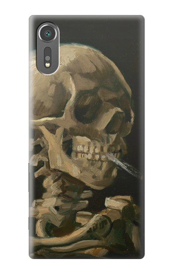 Printed Vincent Van Gogh Head Skeleton Cigarette Sony Xperia C5 Ultra Case