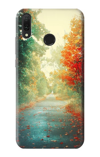 Printed Road Through The Woods Huawei Y9 2019 Case