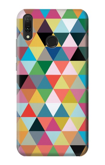 Printed Triangles Vibrant Colors Huawei Y9 2019 Case
