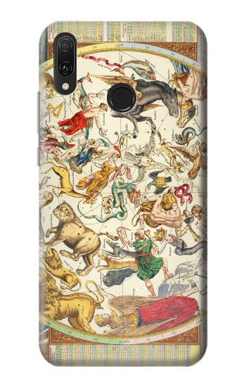 Printed Antique Constellation Map Huawei Y9 2019 Case