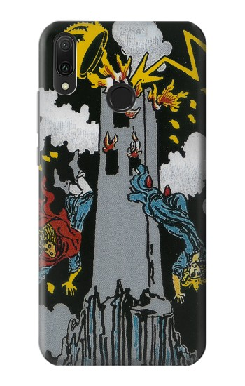 Printed Tarot Card The Tower Huawei Y9 2019 Case