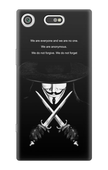 Printed V Mask Guy Fawkes Anonymous Sony Xperia E5 Case