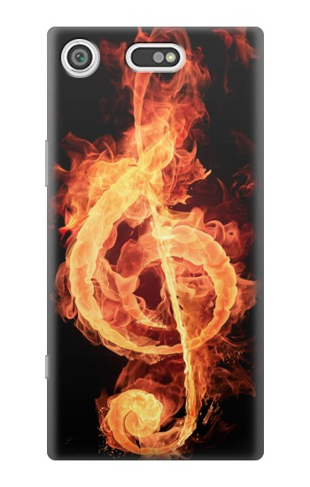 Printed Music Note Burn Sony Xperia E5 Case