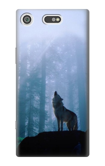 Printed Wolf Howling in Forest Sony Xperia E5 Case