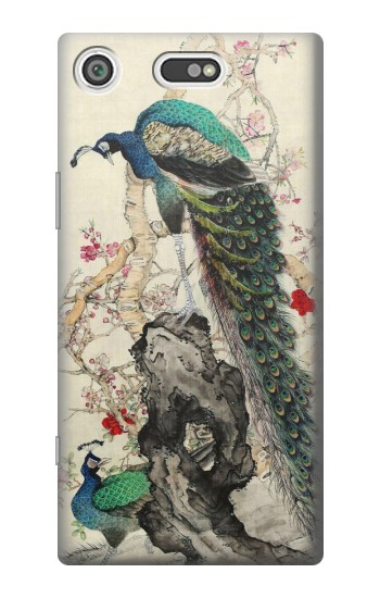 Printed Peacock Painting Sony Xperia E5 Case