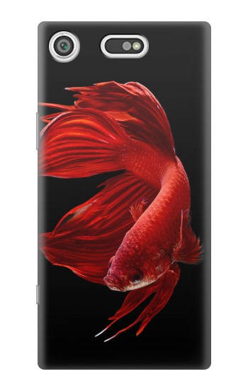 Printed Red Siamese Fighting Fish Sony Xperia E5 Case