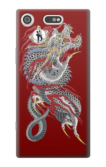 Printed Yakuza Dragon Tattoo Sony Xperia E5 Case