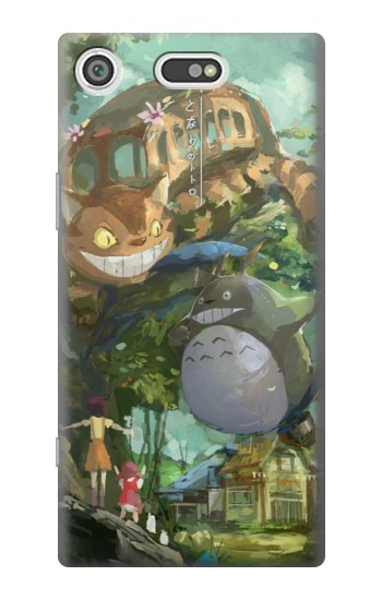 Printed My Neighbor Totoro Cat Bus Sony Xperia E5 Case