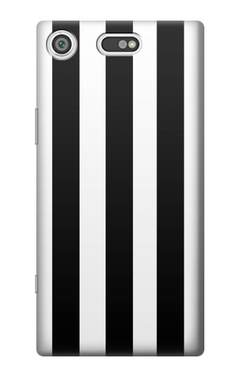 Printed Black and White Vertical Stripes Sony Xperia E5 Case