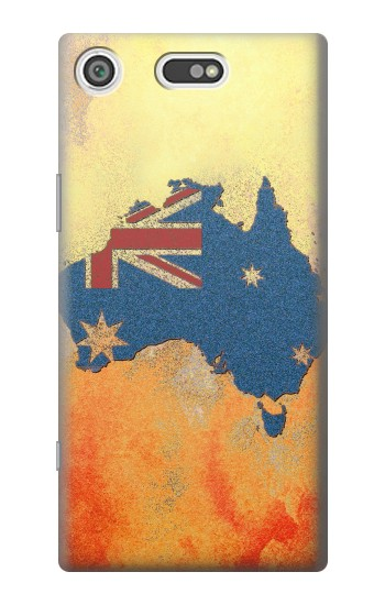 Printed Australia Flag Map Rock Texture Sony Xperia E5 Case
