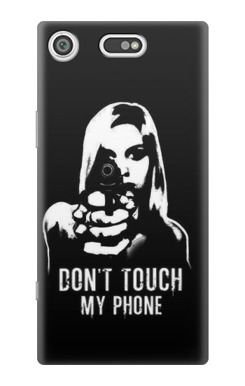 Printed Girl Do Not Touch My Phone Sony Xperia E5 Case