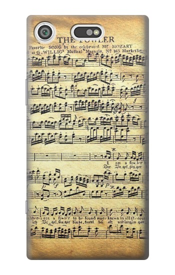 Printed The Fowler Mozart Music Sheet Sony Xperia E5 Case