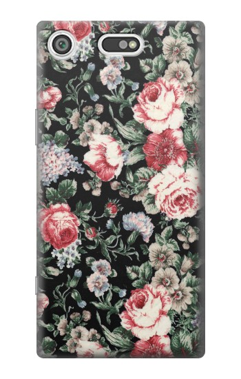 Printed Vintage Rose Pattern Sony Xperia E5 Case