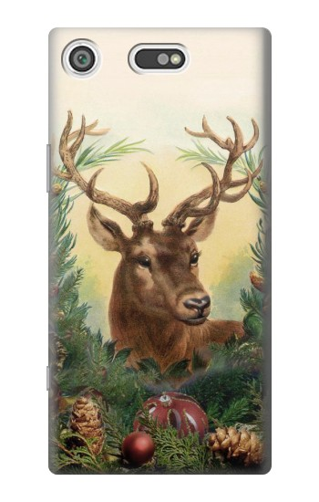 Printed Vintage Reindeer Christmas Sony Xperia E5 Case