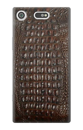Printed Brown Skin Alligator Graphic Printed Sony Xperia E5 Case