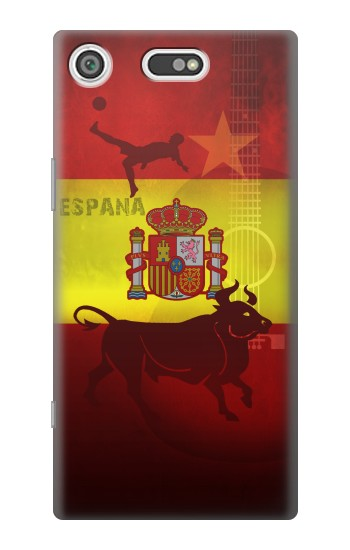 Printed Spain Football Flag Sony Xperia E5 Case