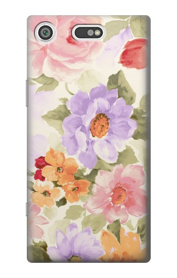 Printed Sweet Flower Painting Sony Xperia E5 Case