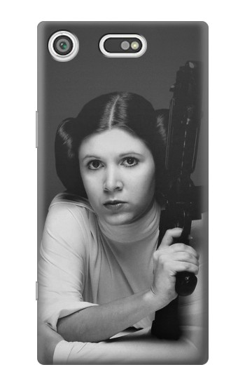 Printed Princess Leia Carrie Fisher Sony Xperia E5 Case