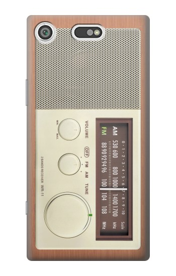 Printed FM AM Wooden Receiver Graphic Sony Xperia E5 Case