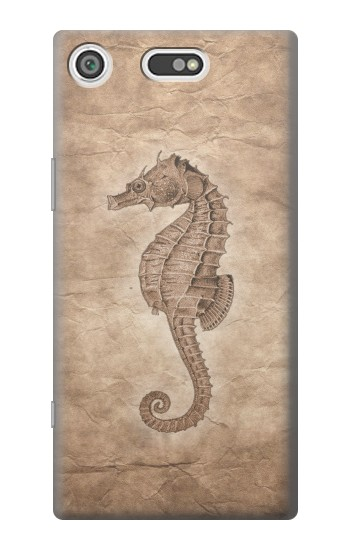 Printed Seahorse Old Paper Sony Xperia E5 Case