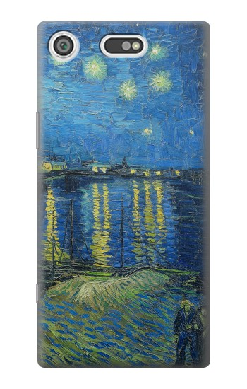 Printed Van Gogh Starry Night Over Rhone Sony Xperia E5 Case