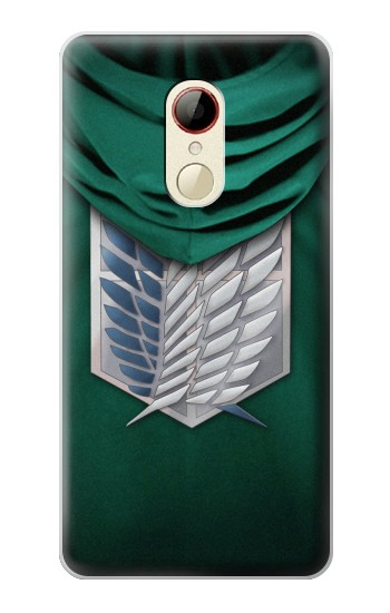 Printed Attack on Titan Scouting Legion Rivaille Green Cloak ZTE Nubia Z9 Mini Case