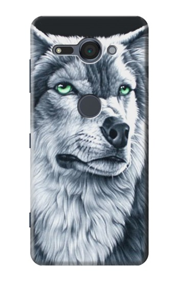 Printed Grim White Wolf Sony Xperia XZ2 Compact Case