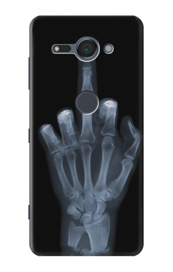 Printed X-ray Hand Middle Finger Sony Xperia XZ2 Compact Case