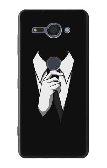 Printed Anonymous Man in Black Suit Sony Xperia XZ2 Compact Case