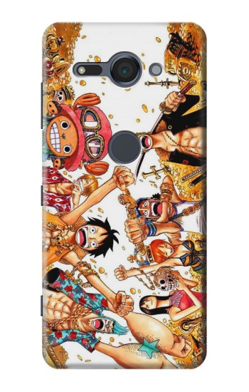 Printed One Piece Straw Hat Luffy Pirate Crew Sony Xperia XZ2 Compact Case