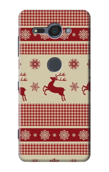 Printed Christmas Snow Reindeers Sony Xperia XZ2 Compact Case