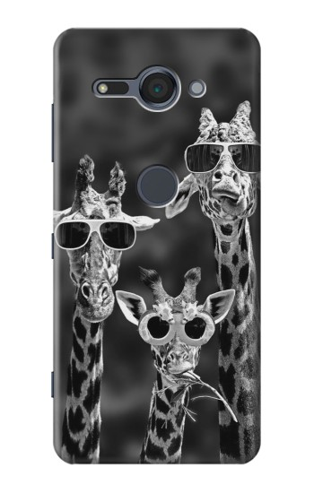 Printed Giraffes With Sunglasses Sony Xperia XZ2 Compact Case