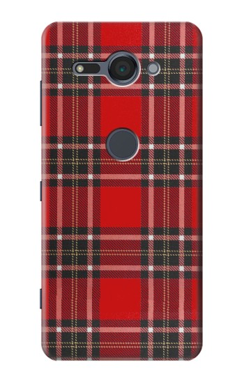 Printed Tartan Red Pattern Sony Xperia XZ2 Compact Case