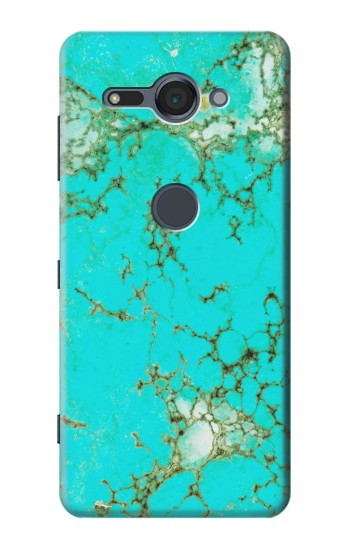 Printed Turquoise Gemstone Texture Graphic Printed Sony Xperia XZ2 Compact Case