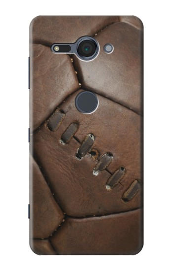 Printed Vintage Genuine Leather Soccer Football Sony Xperia XZ2 Compact Case