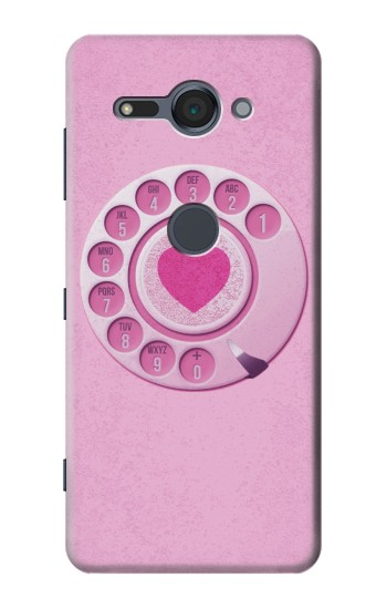 Printed Pink Retro Rotary Phone Sony Xperia XZ2 Compact Case