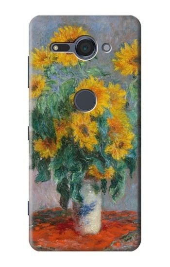 Printed Claude Monet Bouquet of Sunflowers Sony Xperia XZ2 Compact Case