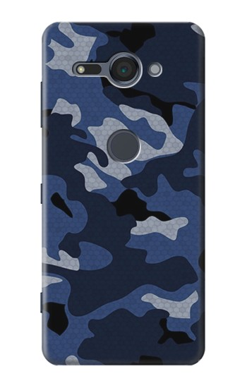 Printed Navy Blue Camouflage Sony Xperia XZ2 Compact Case