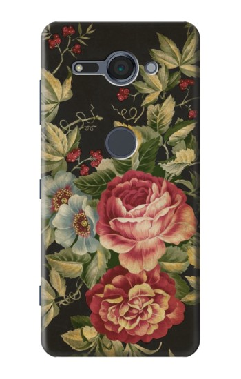 Printed Vintage Antique Roses Sony Xperia XZ2 Compact Case