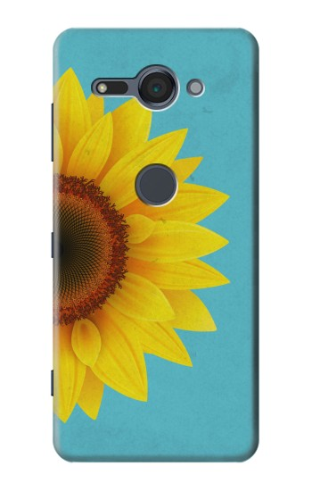 Printed Vintage Sunflower Blue Sony Xperia XZ2 Compact Case