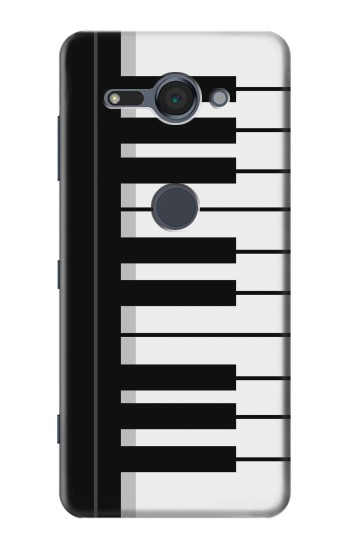 Printed Black and White Piano Keyboard Sony Xperia XZ2 Compact Case