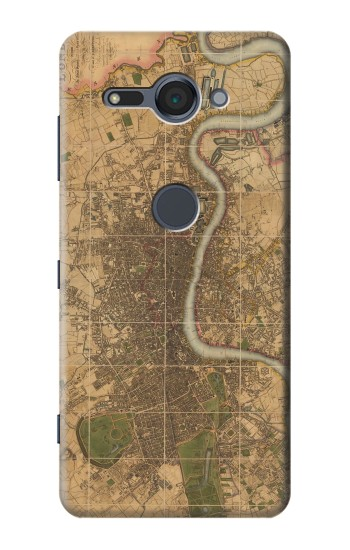 Printed Vintage Map of London Sony Xperia XZ2 Compact Case